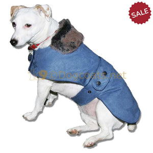 winter dog clothes suede chelsea dog coat | DryDogs.co.uk