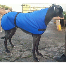 Load image into Gallery viewer, Royal blue lurcher coat. Waterproof, warm, perfect greyhound winter wear