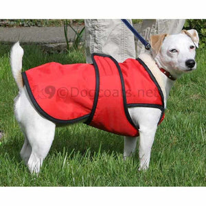 drydogs.co.uk dog coat with chest protection in red