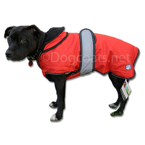 waterproof dog coat with reflective strips and removable lining