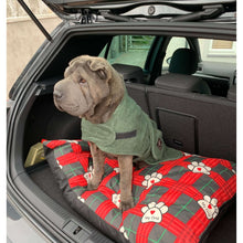 Load image into Gallery viewer, Straight from the beach and into the boot. The dog towelling dry robe is perfect for any wet dog