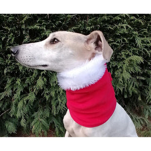 Greyhound/Lurcher Christmas Snood