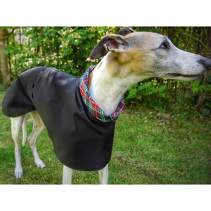 lurcher coat with turn back collar. waterproof, lots of colour choice