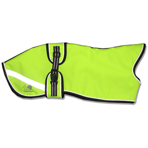 high visibility whippet coat - starbright yellow