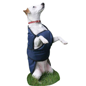 underbelly dog coat with chest protector navy