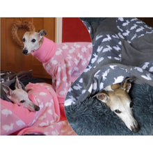 Load image into Gallery viewer, fleece pet bedding to match our fleece onesies. bedding for your whippet, iggy or greyhound lurchers