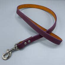 Load image into Gallery viewer, puple-suede-backed-leather-lead
