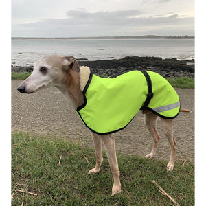 reflective whippet jacket. made in the uk from high quality materials