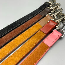 Load image into Gallery viewer, all of our leads are backed with soft suede which is stitched. buckles are solid