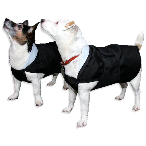 summer lightweight dog coat rain mac with chest protection jack russells