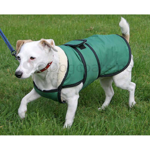 green waterproof dog coat with chest protection uk
