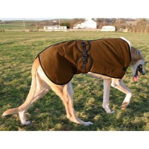 Perfect winter wear for your greyhounds or lurcher. Best quality wax. Dog walkies