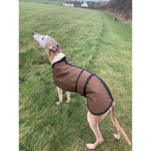 Load image into Gallery viewer, windproof waterproof warm cosy barbour whippet coat wax fabric