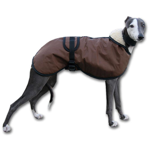 barbour whippet coat from the side waterproof and warm