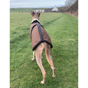 waxed whippet coat in sandstone barbour wax fabric with fleece lining