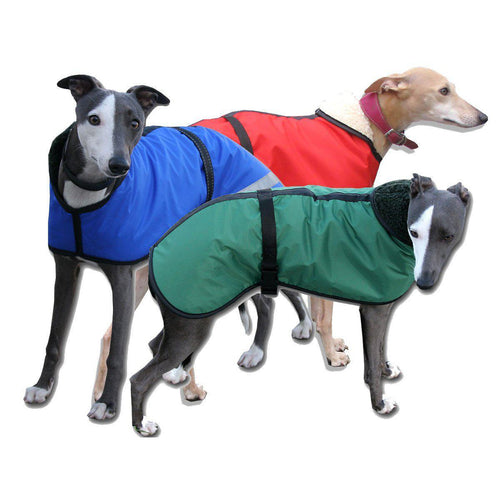 whippet coats uk, waterproof fleece lined warm and dry