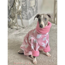 Load image into Gallery viewer, whippet puppy fleece house coat pyjamas onesie