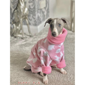 whippet puppy fleece house coat pyjamas onesie