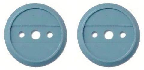 Enlisted Infantry Blue Discs (2) for Branch Insignia (Discs only) - Insignia Depot