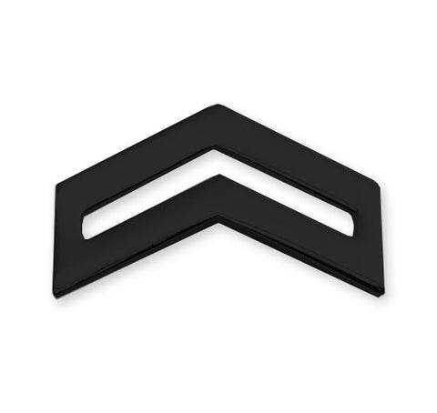 E4 ROTC Corporal Black Rank Pin-on - Insignia Depot