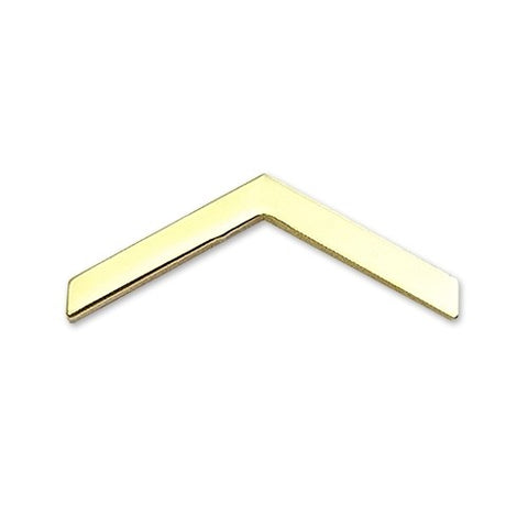 E2 ROTC Private Brite Rank Pin-on - Insignia Depot