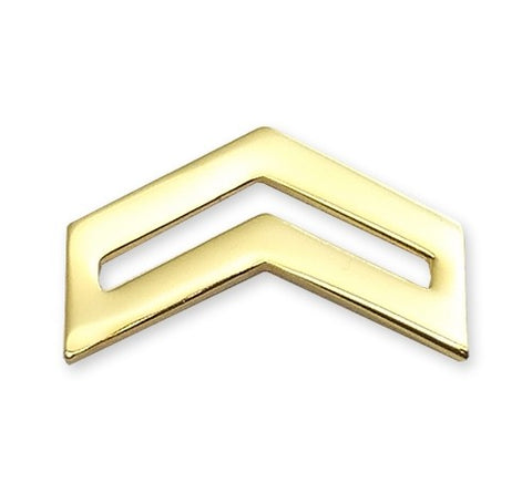 E4 ROTC Corporal Brite Rank Pin-on - Insignia Depot