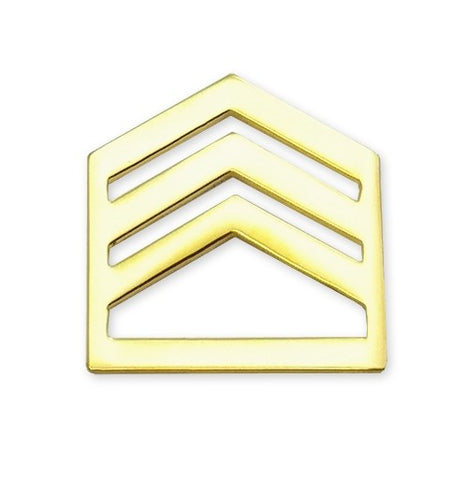 E6 ROTC Staff Sergeant Brite Rank Pin-on - Insignia Depot