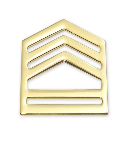 E7 ROTC SFC Brite Rank Pin-on - Insignia Depot