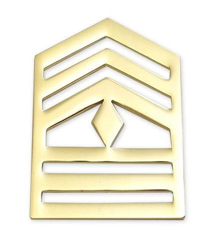 E8-2 ROTC First Sergeant Brite Rank Pin-on - Insignia Depot