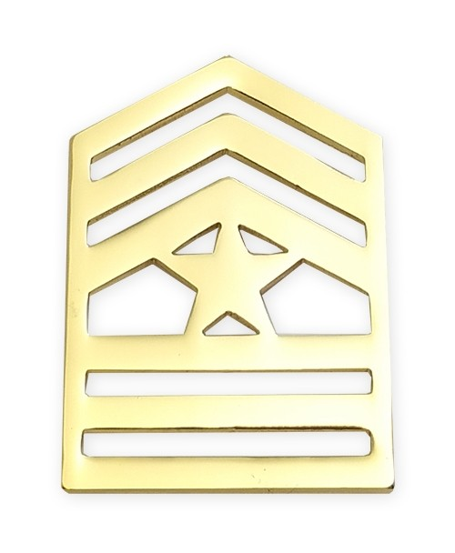 E9-1 ROTC Sergeant Major Brite Rank Pin-on - Insignia Depot