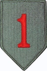 1st Infantry Division with Red 1 ACU Patch with Hook Fastener - Insignia Depot