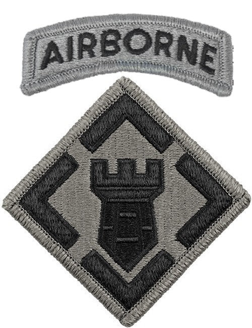 20th Engineer ACU Patch with Hook Fastener and Airborne Tab - Insignia Depot