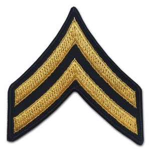 E4 Corporal Gold on Blue Sew-on - Large-Male - Insignia Depot