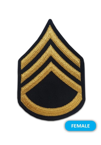 E6 Staff Sergeant Gold on Blue Sew-on - Small-Female - Insignia Depot