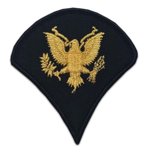 E4 Specialist Gold on Blue Sew-on - Large-Male - Insignia Depot