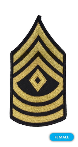 E8 First Sergeant Gold on Blue Sew-on - Small-Female - Insignia Depot