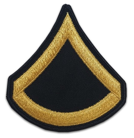 E3 Private First Class Gold on Blue Sew-on - Large-Male - Insignia Depot