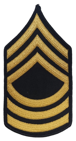 E8 Master Sergeant Gold on Blue Sew-on - Large-Male - Insignia Depot