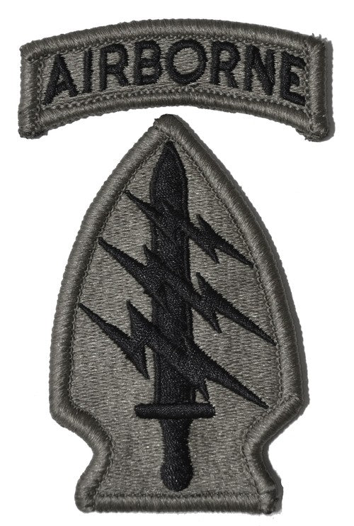 Special Forces ACU Patch with Hook Fastener and Airborne Tab - Insignia Depot