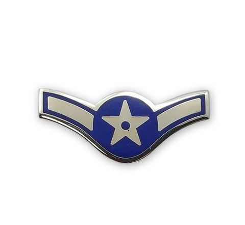 USAF E2 Airman Brite Pin-on - Insignia Depot