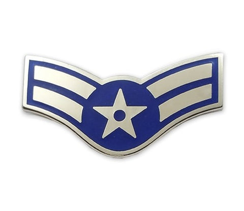 USAF E3 Airman First Class Brite Pin-on - Insignia Depot