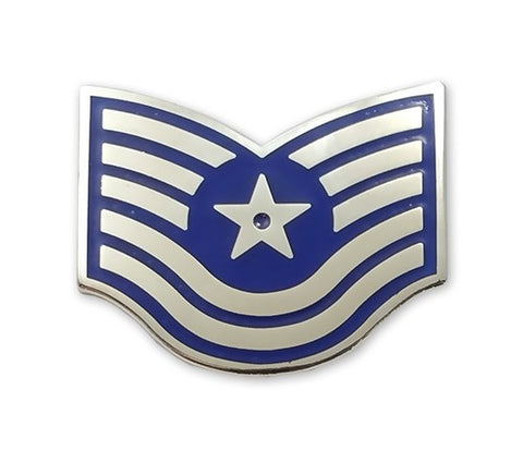USAF E6 Technical Sergeant Brite Pin-on - Insignia Depot