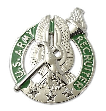 Recruiting - Recruiter Basic Brite Pin-on Badge - Insignia Depot