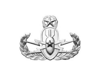 Explosive Ordnance Disposal Master Mini Brite Pin On Badge - Insignia Depot