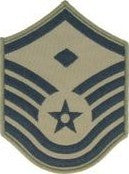 USAF E7 Master Sergeant with 1st Sergeant Designation ABU Sew-on 4 Chevrons - Insignia Depot