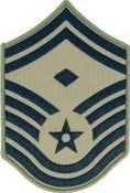 USAF E8 Senior Master Sergeant with 1st Sergeant Designation ABU Sew-on 4 Chevrons - Insignia Depot