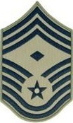 USAF E9 Chief Master Sergeant with 1st Sergeant Designation ABU Sew-on 4 Chevrons - Insignia Depot