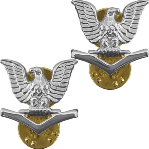 USN E4 Brite Pin-on - Insignia Depot