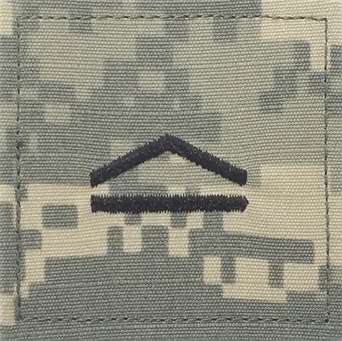 E3 ROTC Private ACU Rank with Hook Fastener - Insignia Depot