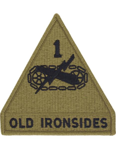1st Armored Division OCP Patch with Hook Fastener (pair) - Insignia Depot